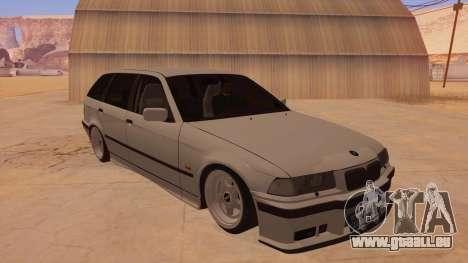 BMW M3 E36 Touring pour GTA San Andreas vue arrière