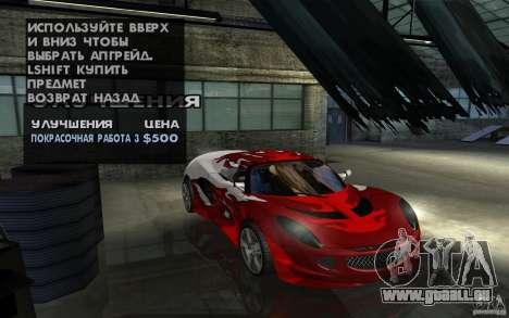 Lotus Elise from NFSMW pour GTA San Andreas vue de côté