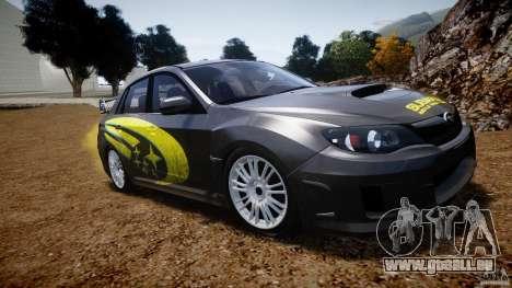 Subaru Impreza WRX STi 2011 Subaru World Rally für GTA 4 Seitenansicht