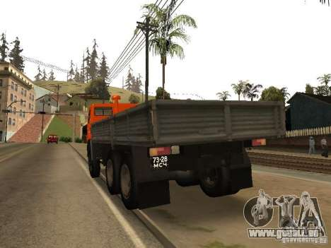 KAMAZ 5320 für GTA San Andreas zurück linke Ansicht