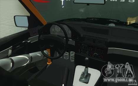 BMW E34 V8 Wide Body pour GTA San Andreas vue de dessus
