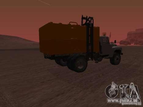 ZIL 431410 camion à ordures pour GTA San Andreas laissé vue