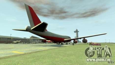 Fly Kingfisher Airplanes witout logo pour GTA 4 Vue arrière de la gauche