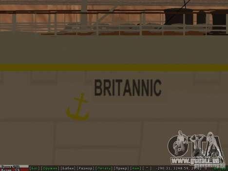 HMHS Britannic für GTA San Andreas obere Ansicht
