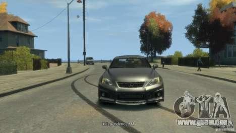 Lexus IS F für GTA 4 hinten links Ansicht