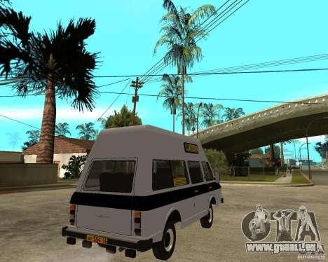 RAPH 22038 taxi für GTA San Andreas zurück linke Ansicht