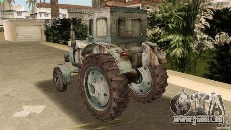 Tracteur t-40 pour GTA Vice City vue latérale