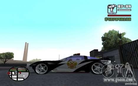 Cross Corvette C6R Englisch für GTA San Andreas linke Ansicht