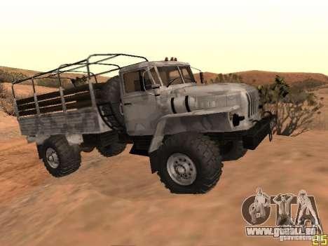 Oural-43206 hiver Camo pour GTA San Andreas vue de droite