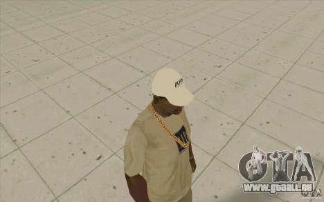 Boss Cap weiss für GTA San Andreas zweiten Screenshot