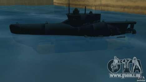 Seehund Midget Submarine skin 2 pour une vue GTA Vice City de la gauche