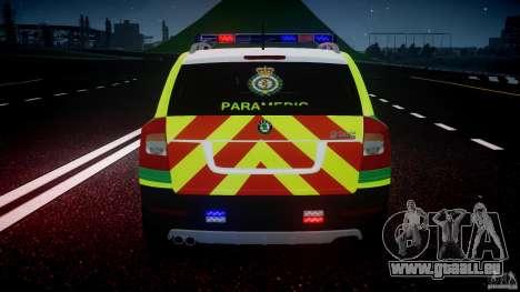 Skoda Octavia Scout Paramedic [ELS] pour le moteur de GTA 4