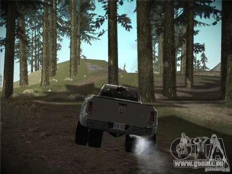 Dodge Ram 3500 4X4 pour GTA San Andreas sur la vue arrière gauche