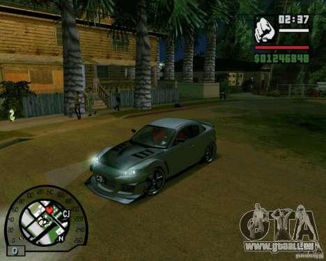 Mazda RX8 JDM Style pour GTA San Andreas laissé vue