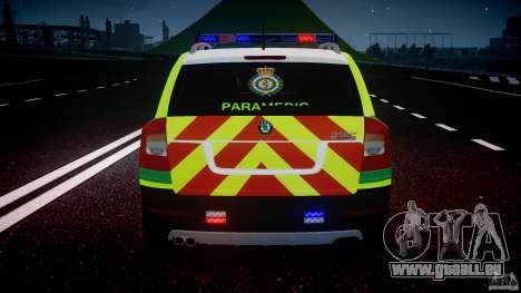 Skoda Octavia Scout Paramedic [ELS] pour GTA 4 roues