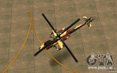 Hunter Armee Look pour GTA San Andreas vue arrière