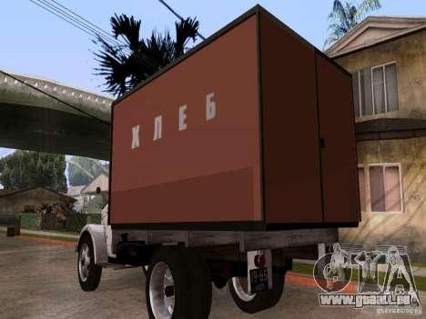 GAZ 51 Brot für GTA San Andreas zurück linke Ansicht