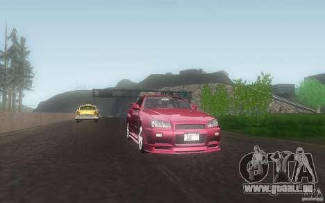 Nissan Skyline GT-R R34 M-spec Nur für GTA San Andreas Innenansicht