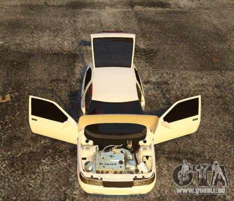 Coupe de VAZ-2112 pour GTA 4 vue de dessus