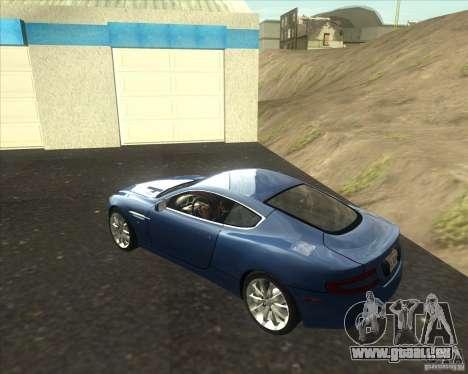 Aston Martin DB9 tunable für GTA San Andreas linke Ansicht