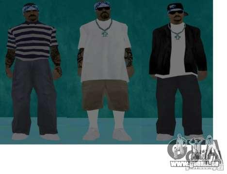 Skins Bands HQ für GTA San Andreas her Screenshot