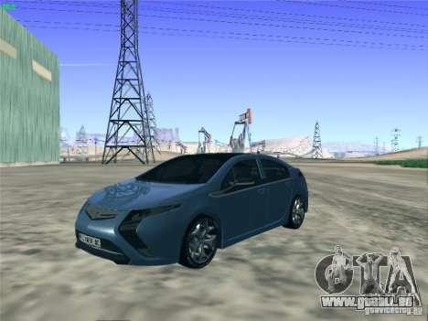 Opel Ampera 2012 für GTA San Andreas zurück linke Ansicht