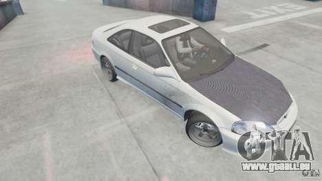 Honda Civic Si 1999 JDM [EPM] pour GTA 4 Vue arrière de la gauche