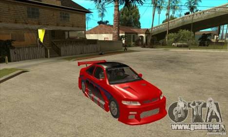 Honda Civic Tuning Tunable für GTA San Andreas obere Ansicht