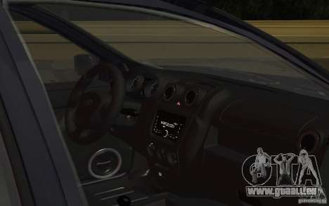 Lada Granta Stock pour GTA San Andreas vue intérieure