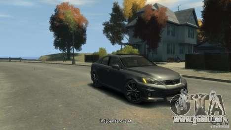 Lexus IS F pour GTA 4 est une gauche
