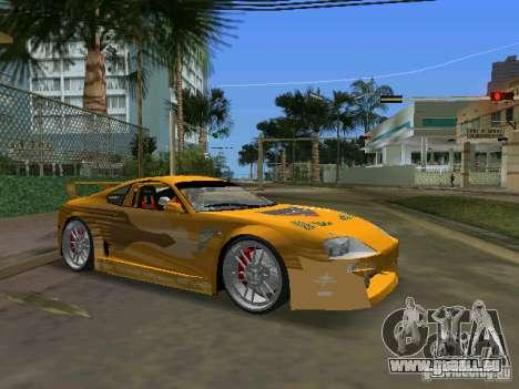 Toyota Supra pour GTA Vice City sur la vue arrière gauche