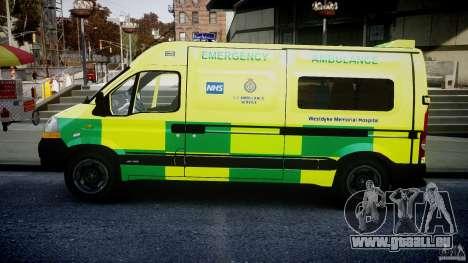 Renault Master 2007 Ambulance Scottish [ELS] pour GTA 4 est une gauche