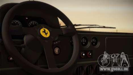 Ferrari F40 1987 pour GTA San Andreas vue de dessous