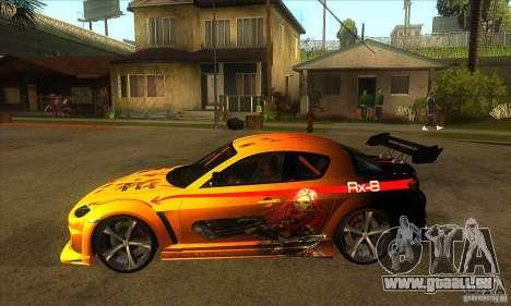 Mazda RX8 Slipknot Style für GTA San Andreas linke Ansicht