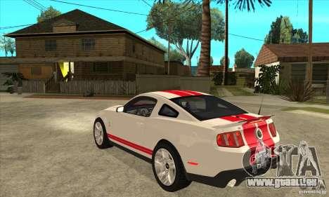 Ford Mustang Shelby GT500 2011 für GTA San Andreas rechten Ansicht