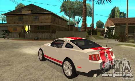 Ford Mustang Shelby GT500 2011 pour GTA San Andreas vue de droite