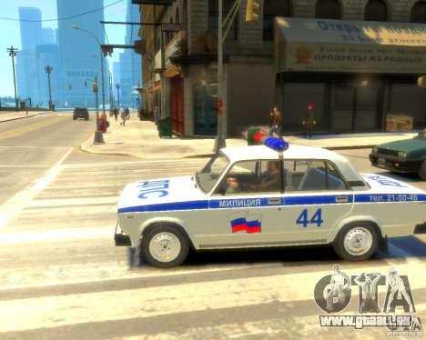 VAZ-2105-Polizei für GTA 4 rechte Ansicht