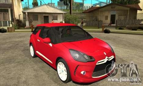 Citroen DS3 2011 pour GTA San Andreas vue arrière