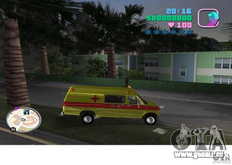 Ford Econoline E350 Ambulance für GTA Vice City