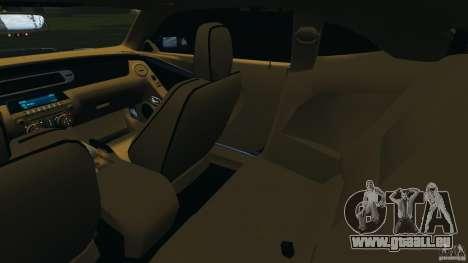 Chevrolet Camaro ZL1 2012 v1.0 Smoke Stripe pour GTA 4 est une vue de l'intérieur