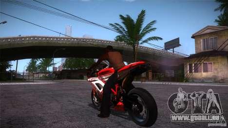 Ducati 1098 pour GTA San Andreas sur la vue arrière gauche