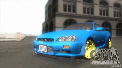 Nissan Skyline GTR-34 pour GTA San Andreas vue arrière