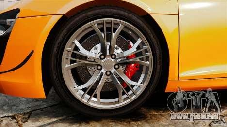 Audi R8 GT Coupe 2011 pour GTA 4 est une vue de l'intérieur