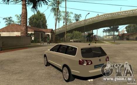 Volkswagen Passat Variant 2010 für GTA San Andreas zurück linke Ansicht