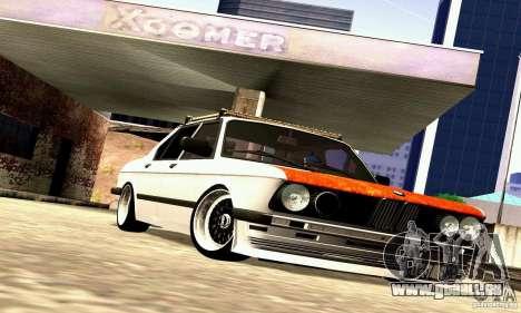 BMW E28 525e RatStyle No1 pour GTA San Andreas vue intérieure