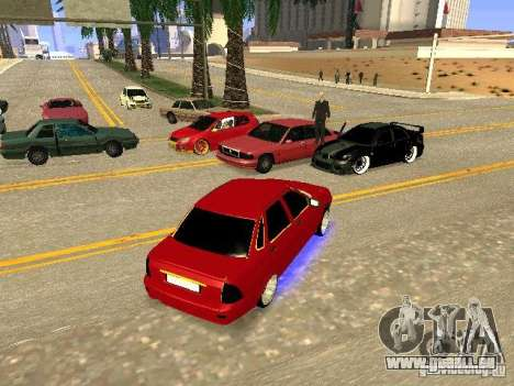 LADA 2170 Priora Gold Edition pour GTA San Andreas vue de dessous
