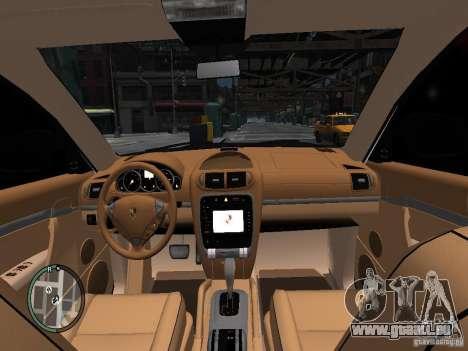 Porsche Cayenne Turbo 2003 v.2.0 pour GTA 4 est une vue de l'intérieur