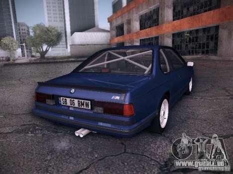 BMW E24 M635CSi 1984 pour GTA San Andreas laissé vue