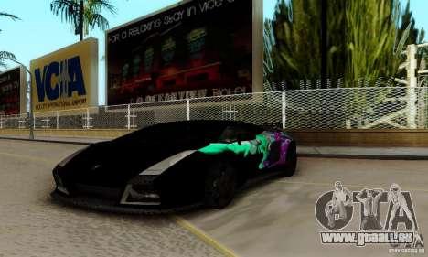 Lamborghini Gallardo pour GTA San Andreas vue de dessus