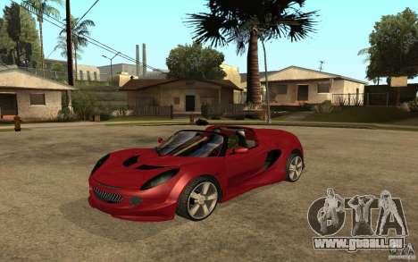 Lotus Elise from NFSMW pour GTA San Andreas sur la vue arrière gauche